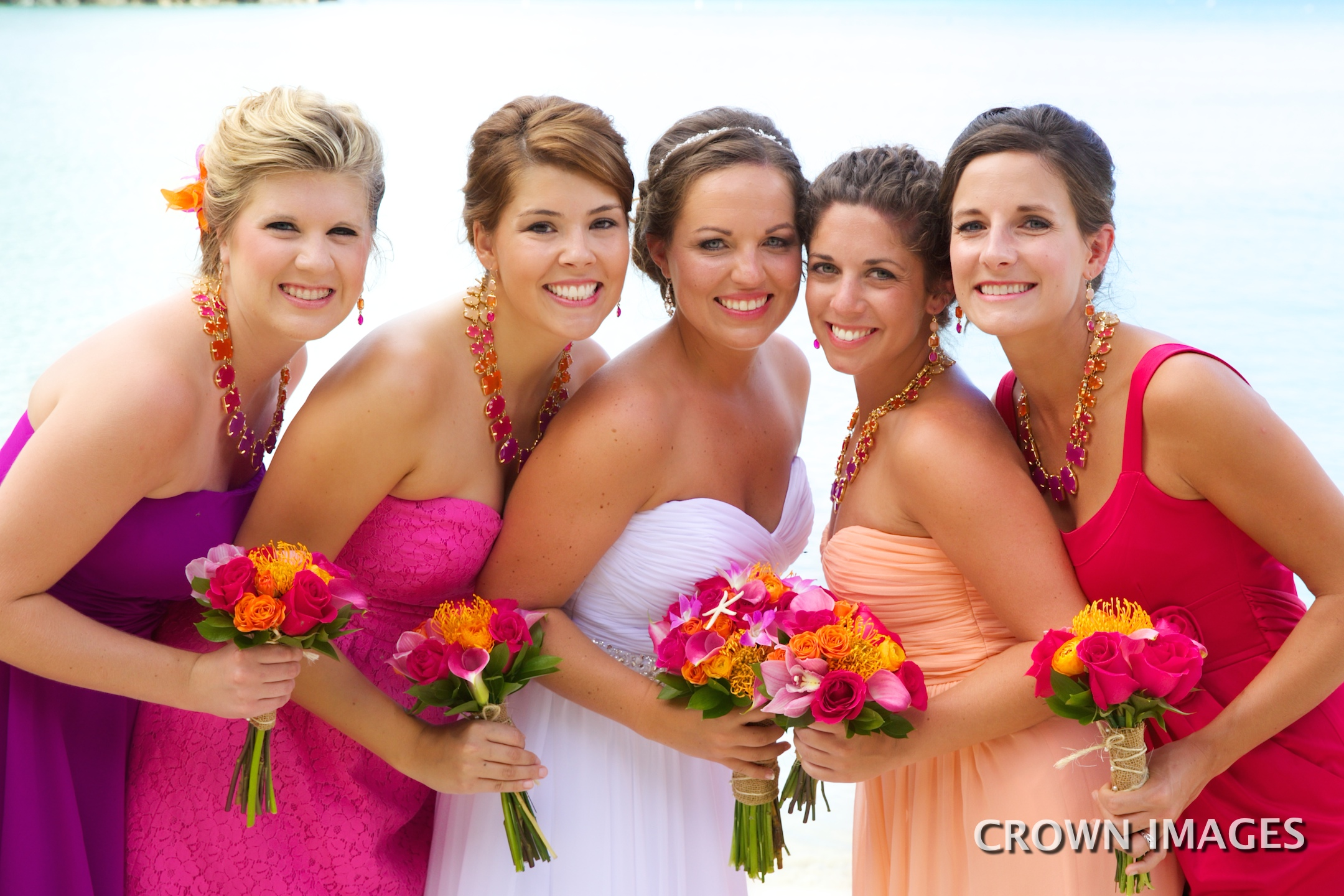 bridesmaid dress colors for a beach wedding in the virgin islands