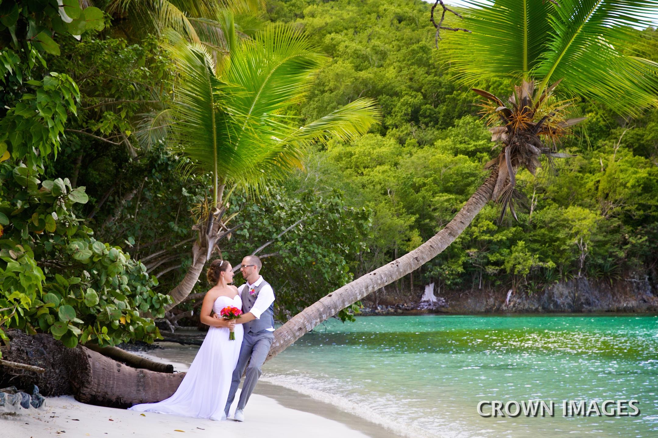 maho beach wedding on st john