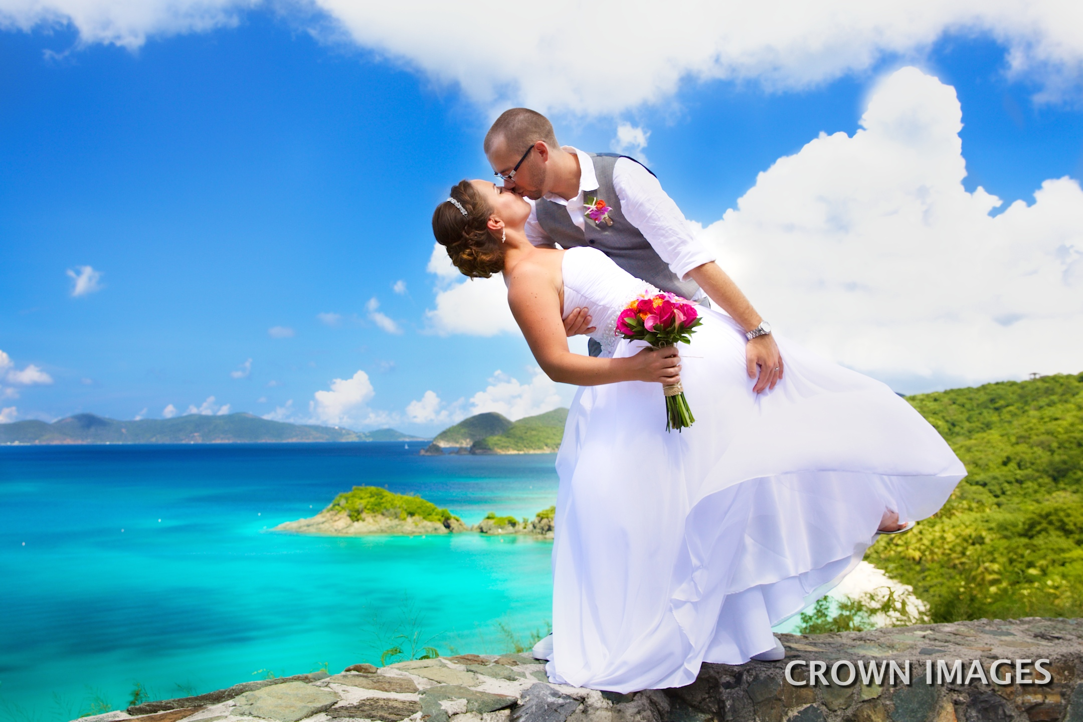 trunk bay overlook on st john for wedding photos by crown images