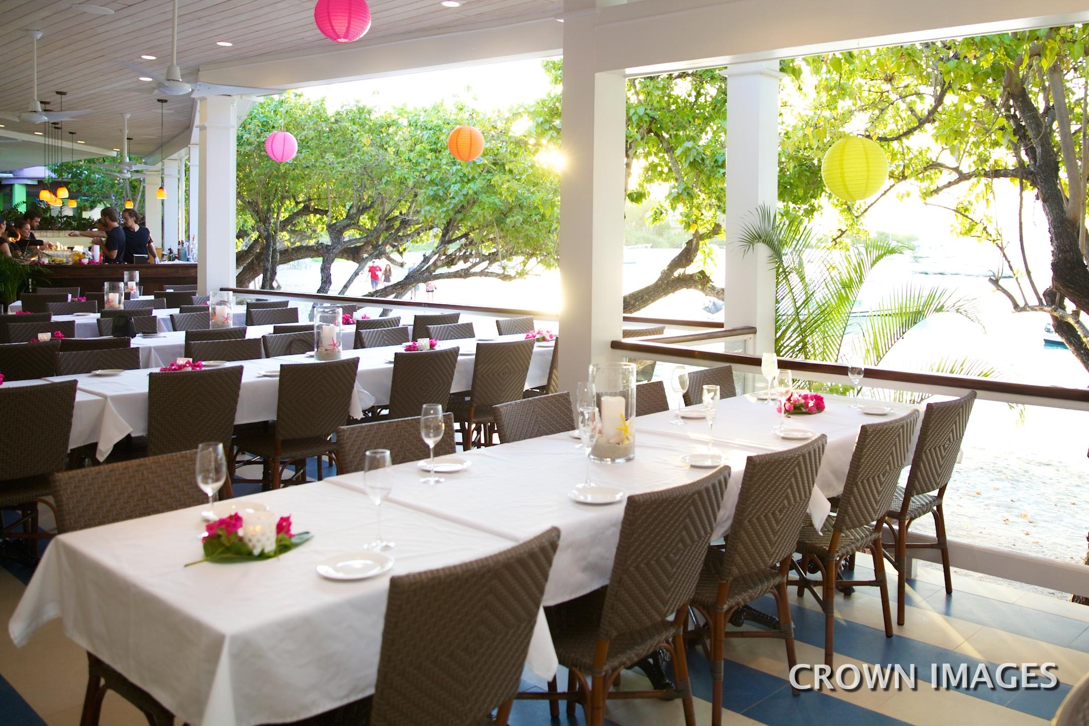 wedding reception location on st john waterfront bistro