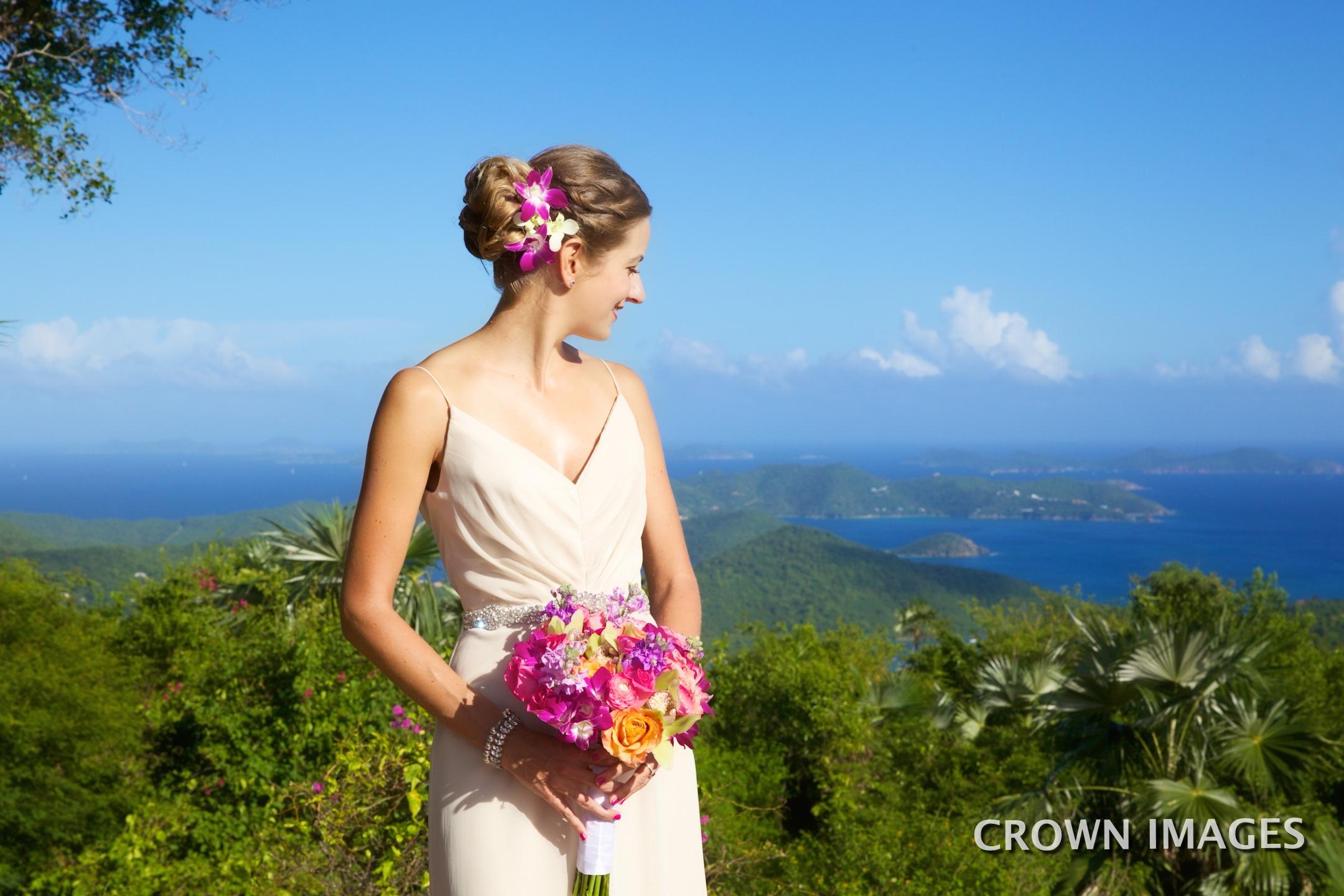 pre wedding bridal photos on st john at a villa