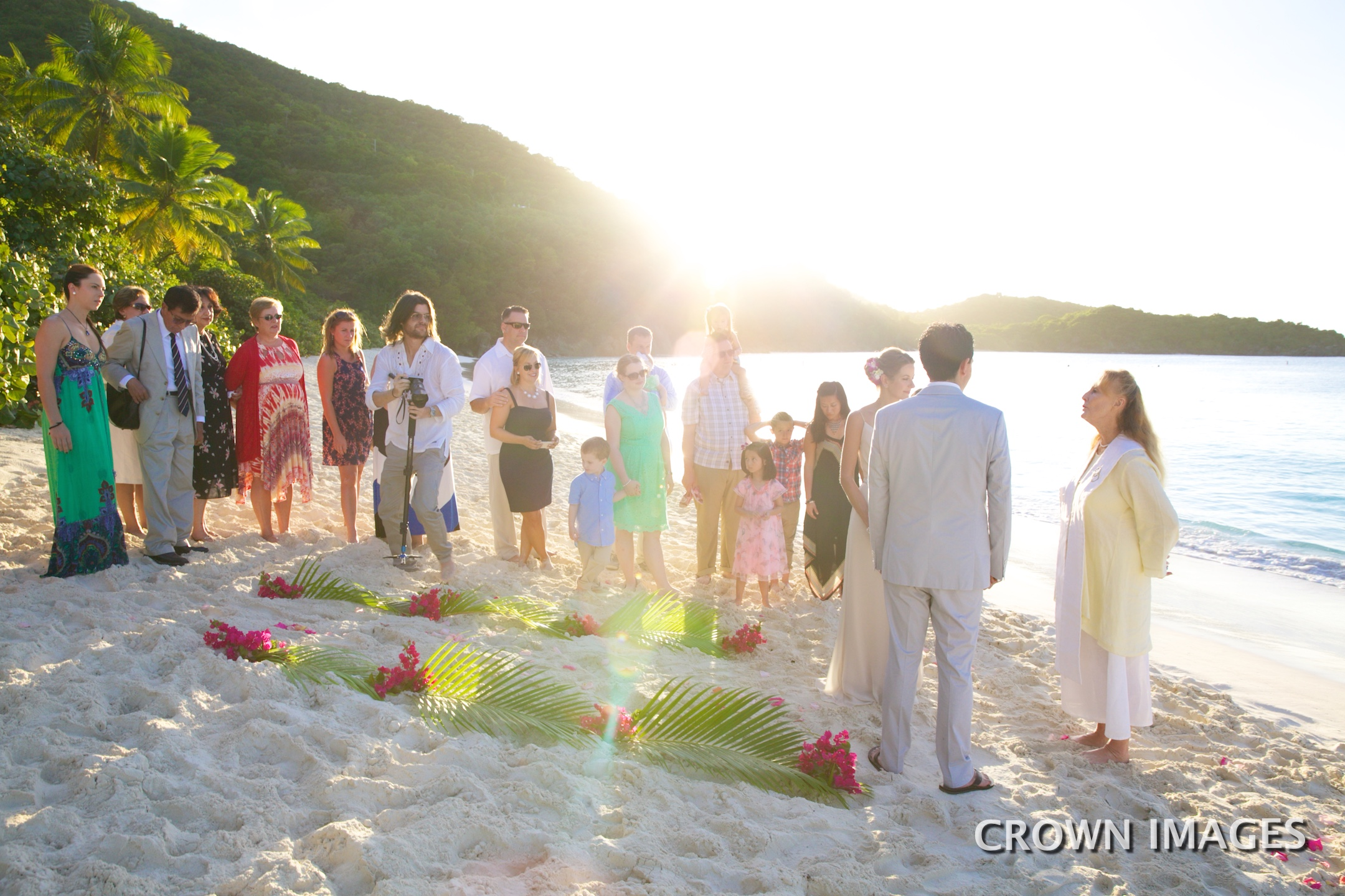 ceremony on the beach by anne marie porter