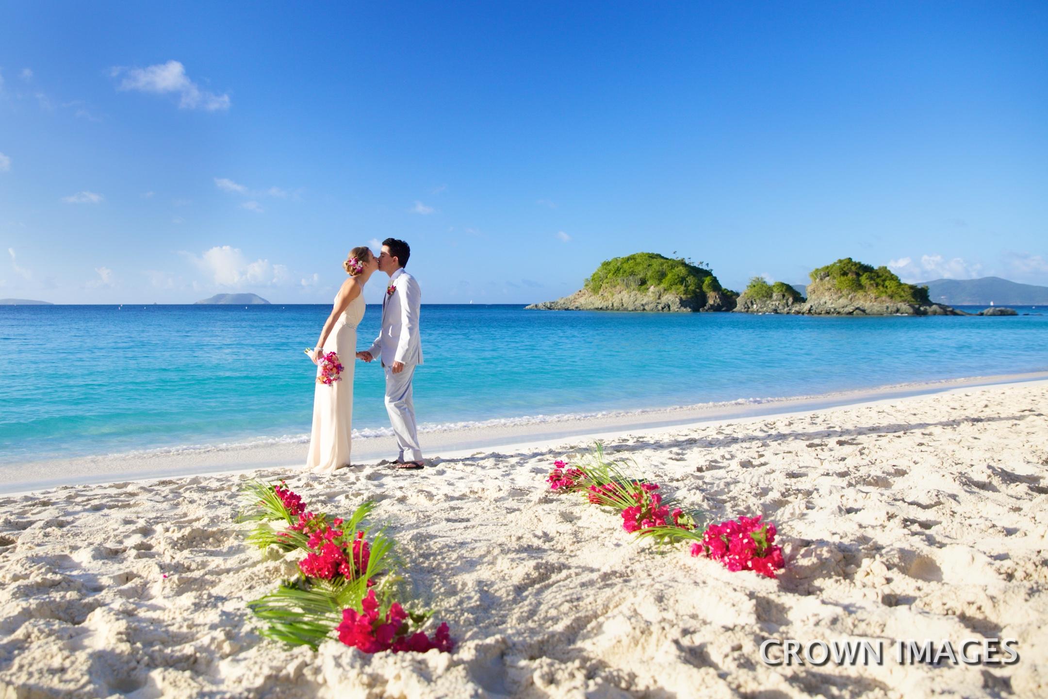 wedding ceremony on the beach st john