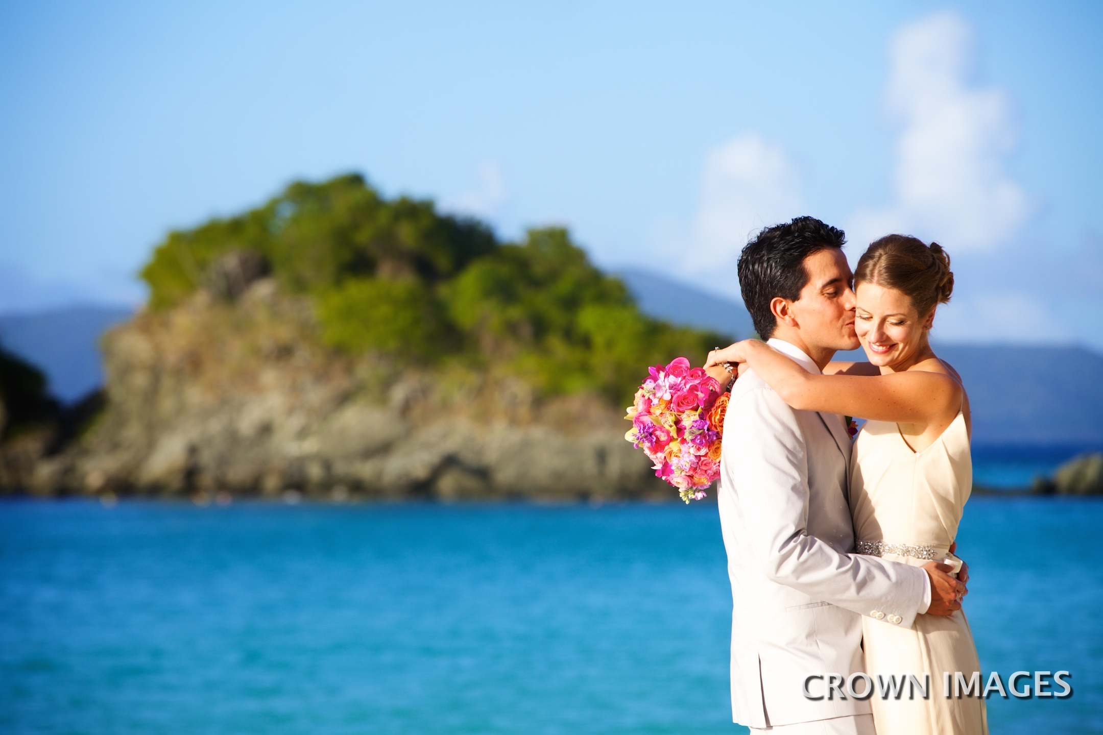 beach wedding on st john photos by crown images