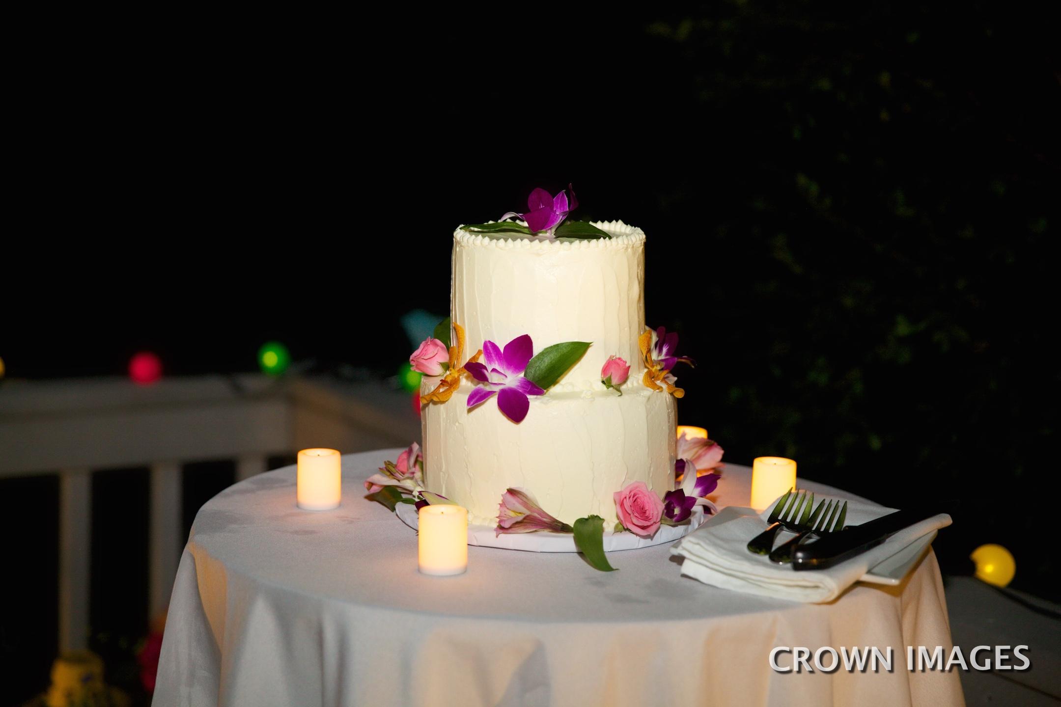 wedding cake on st john