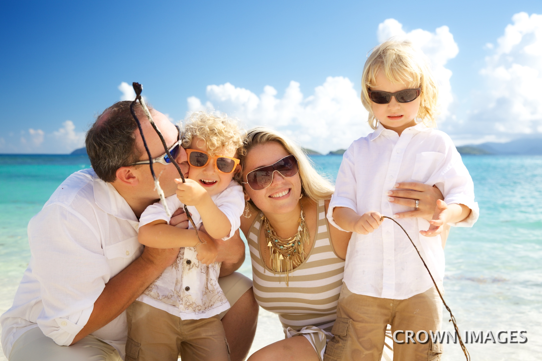 professional family vacation photos on the beach in the virgin islands