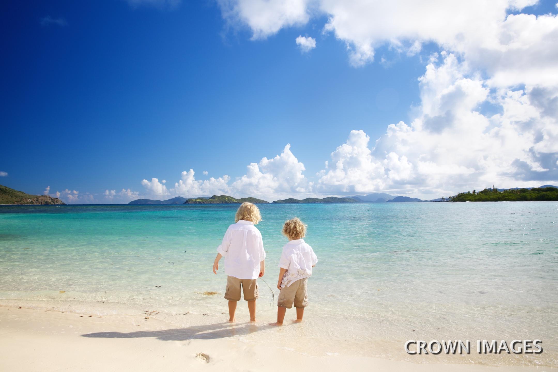 family vacation photos on the beach st thomas