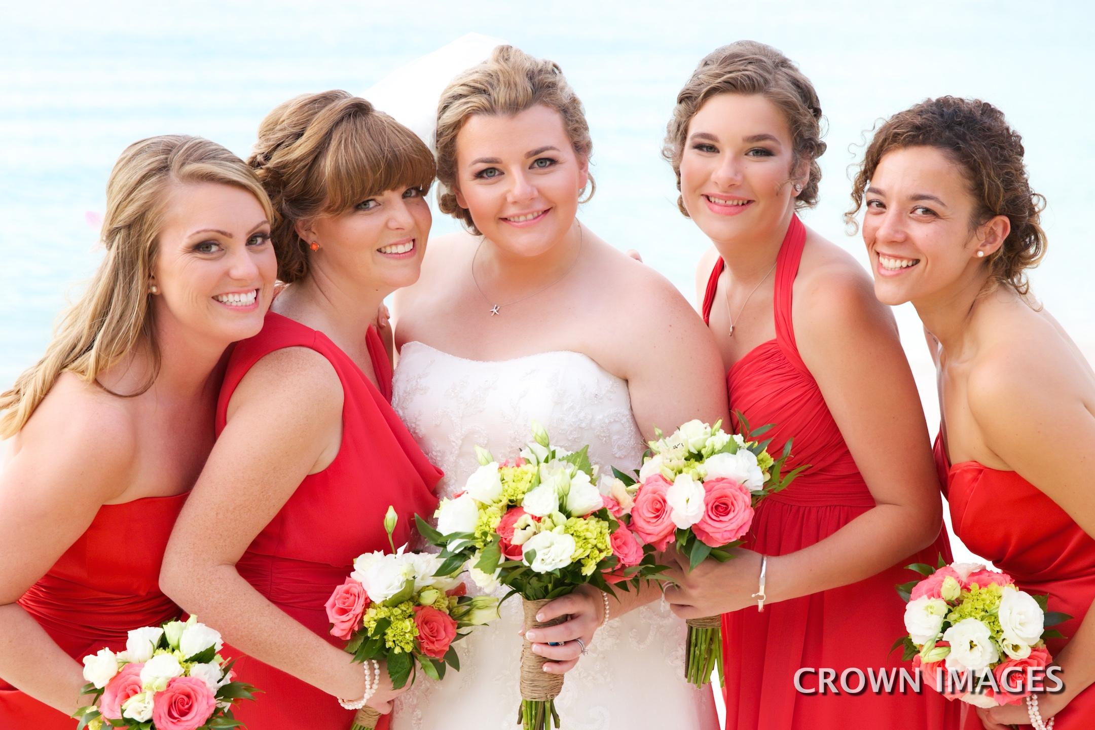 bridesmaids wedding dress for st john