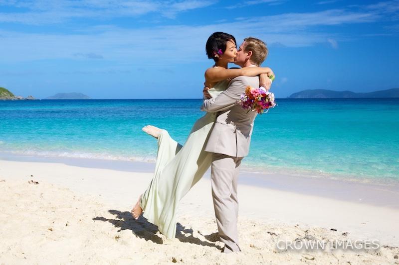 beach wedding on st john photos