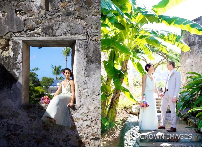 caneel bay resort old ruins wedding photos