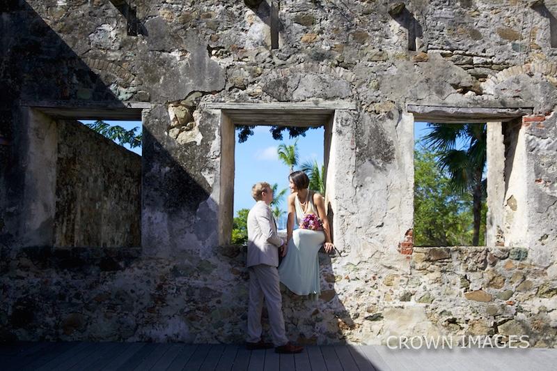 wedding at caneel bay ruins st john