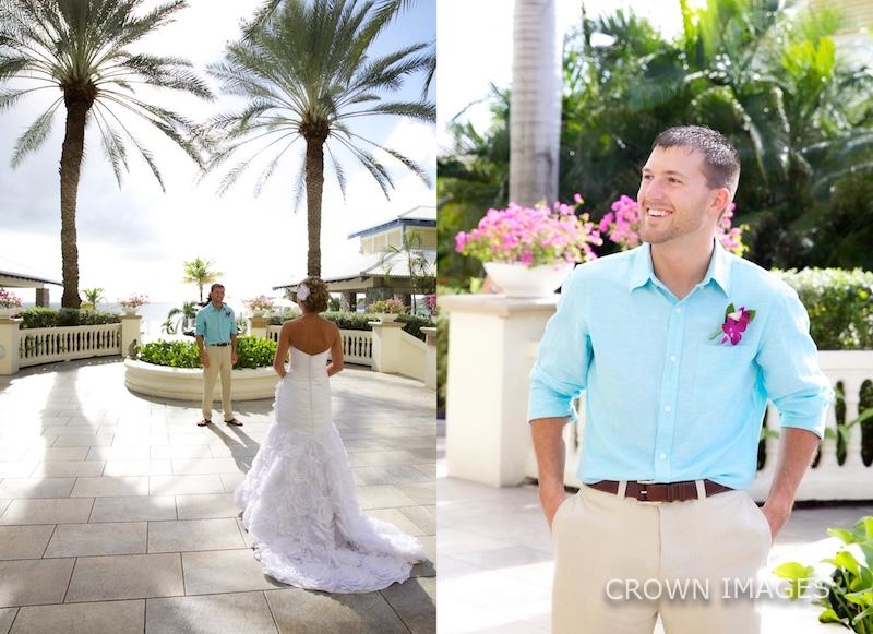 first look at a wedding st thomas resort
