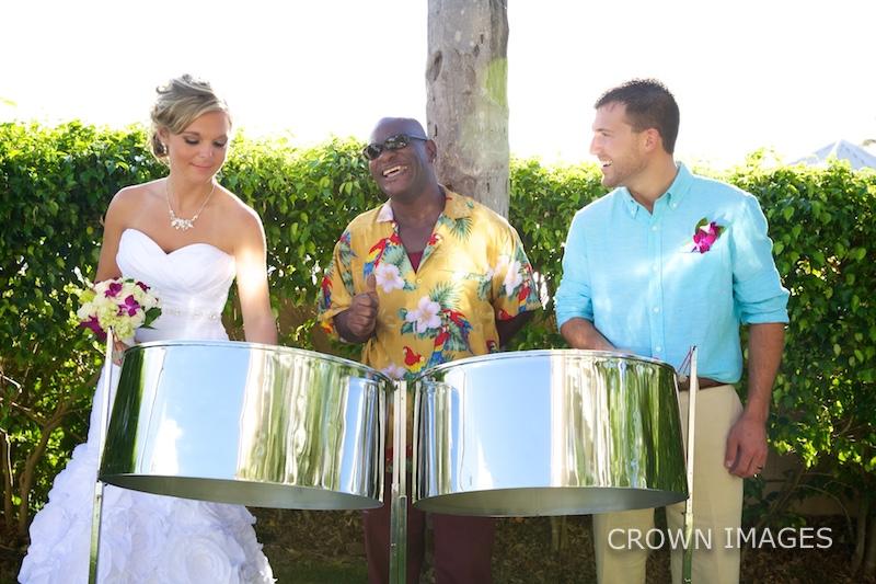 live music at a virgin islands wedding