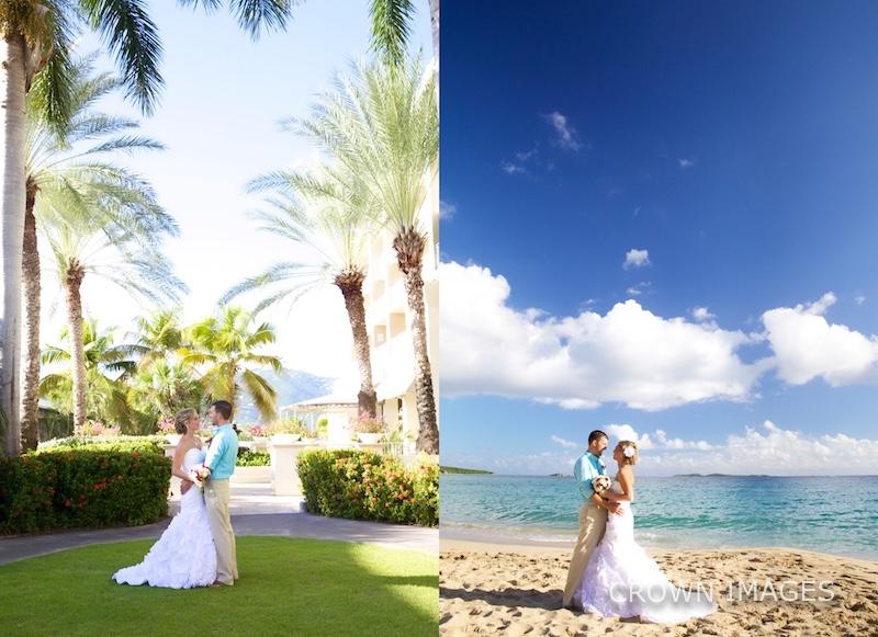 wedding photography on st thomas
