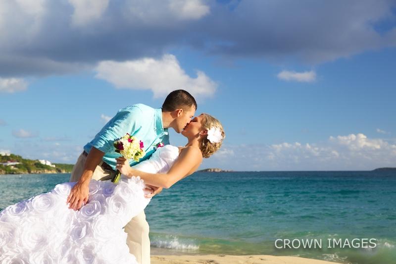 st thomas beach wedding photos