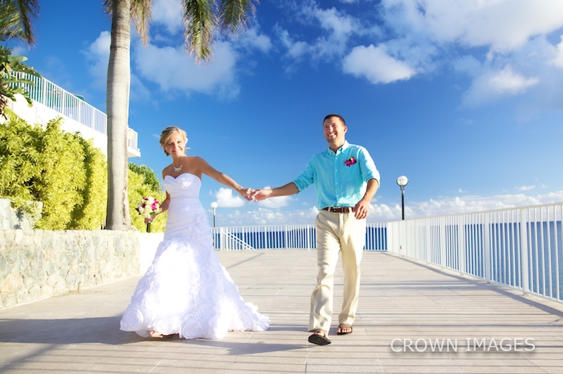 wedding at a resort in the virgin islands