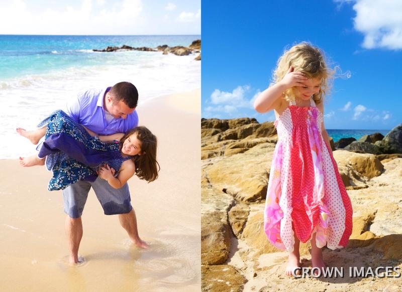 family photos on the beach virgin islands
