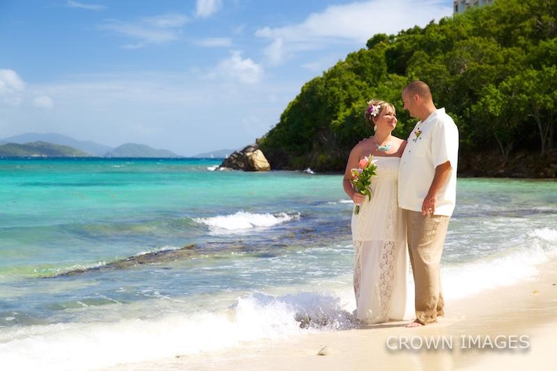 beach wedding at virgin islands resort
