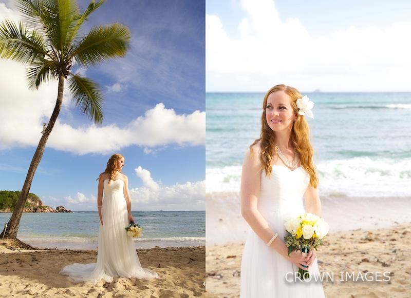bridal photos on the beach of st thomas