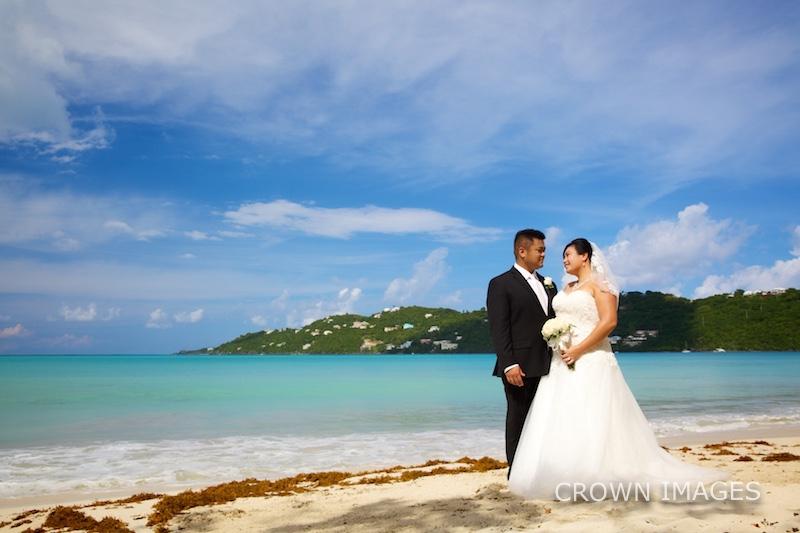 mages bay beach wedding photos on st thomas