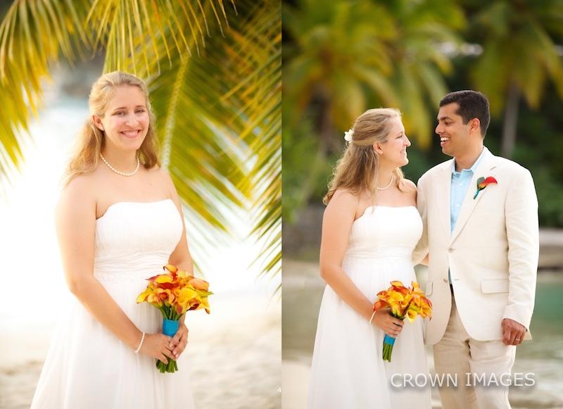 wedding photos sunset wedding virgin islands