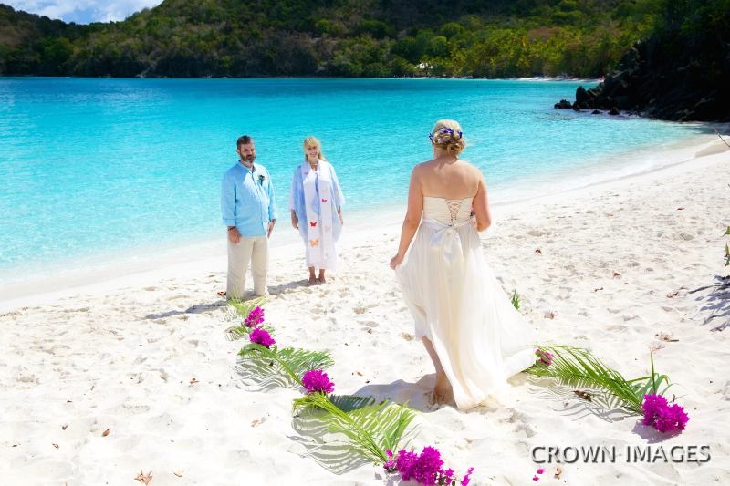 wedding ceremony on st john
