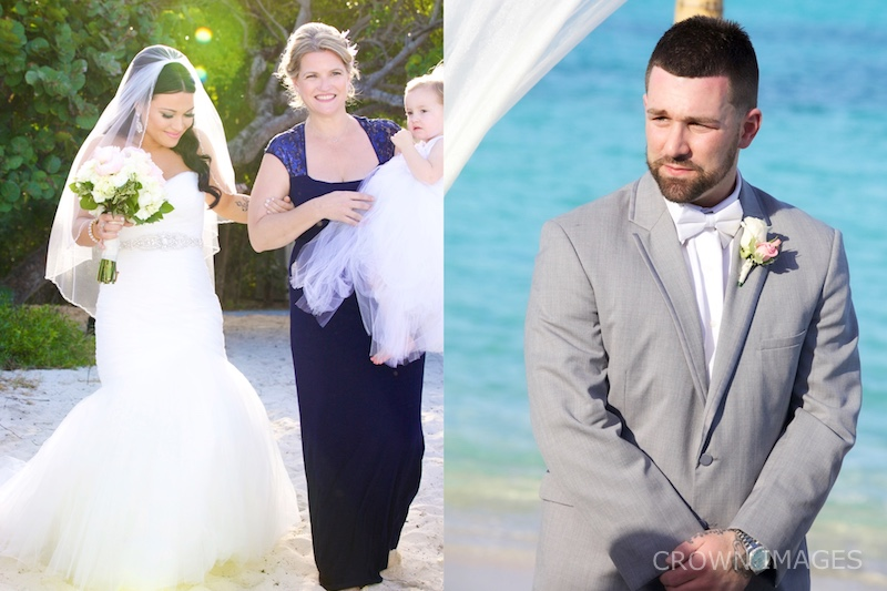 first look at a st thomas wedding