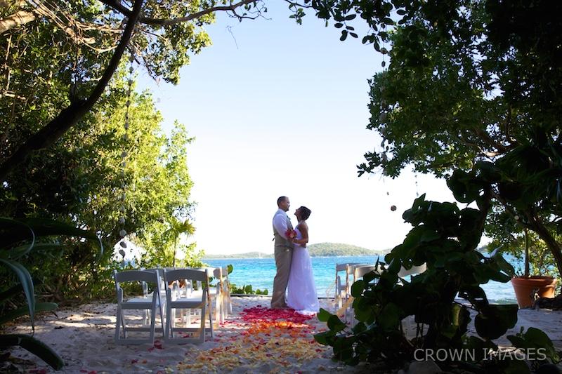 wedding photos on st thomas virgin islands