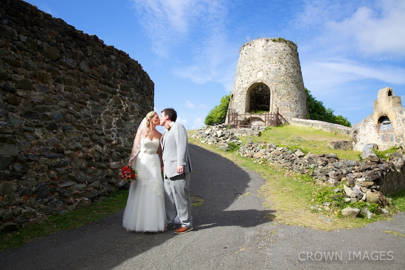 wedding in the ruins on st john