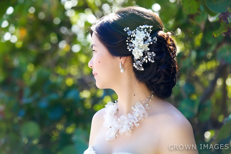 wedding hair by sugar and spice st thomas