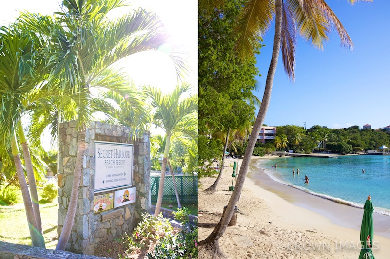 st thomas beach wedding at secret harbour resort