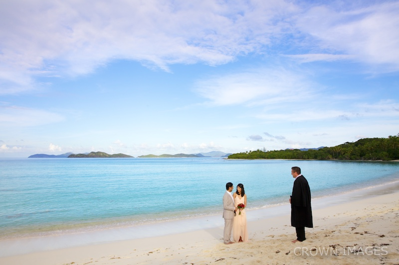 sunset wedding on the beach in st thomas