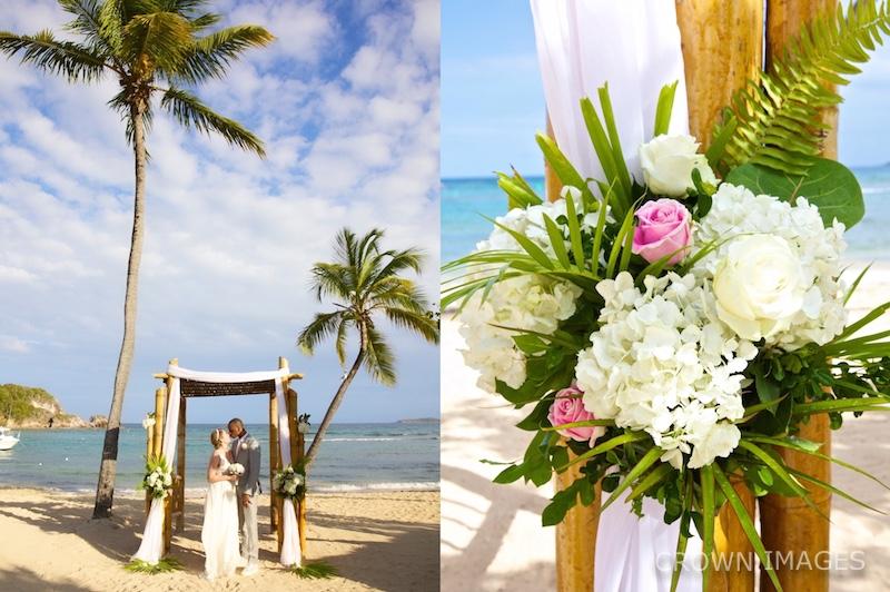 wedding at bolongo bay beach st thomas