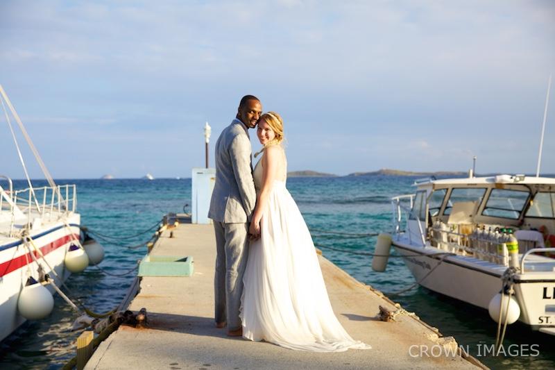 wedding photos at bolongo bay beach resort st thomas