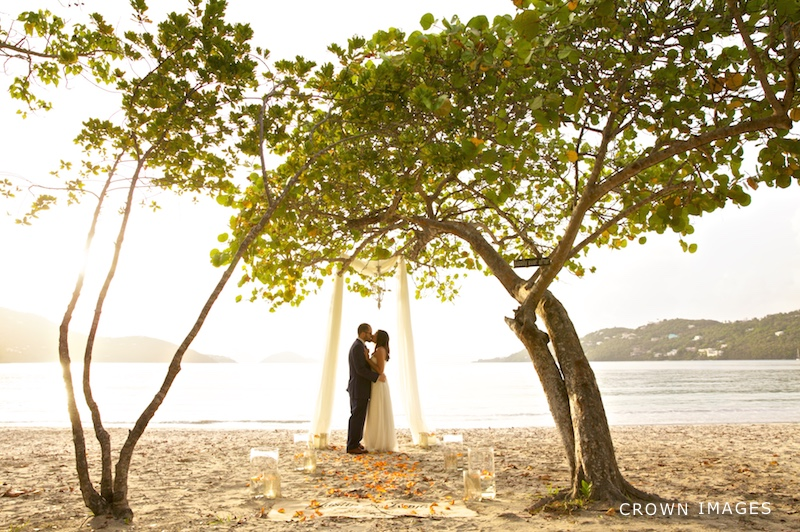 wedding at magen's bay beach st thomas photo by crown images