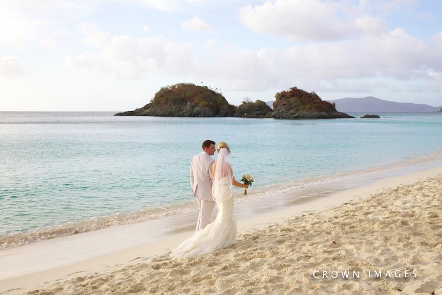 trunk bay beach wedding on st john
