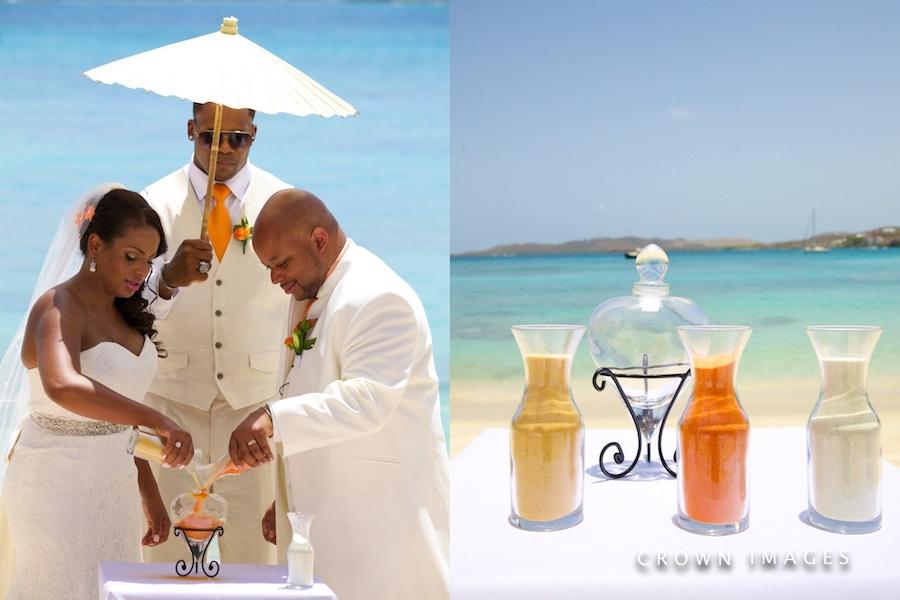 sand ceremony for a beach wedding virgin islands