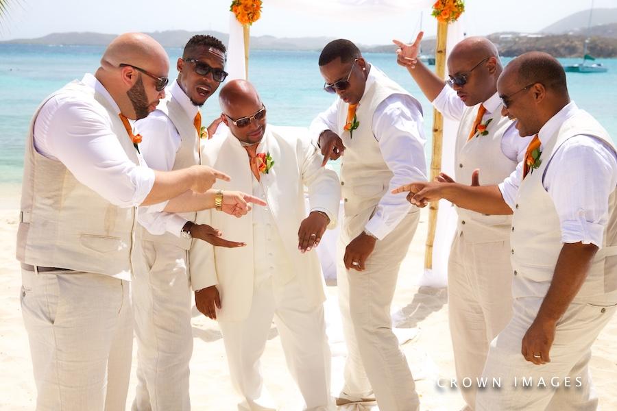 groom plans a destination wedding