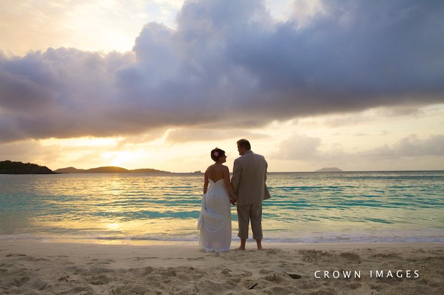 sunset wedding photos on st john virgin islands