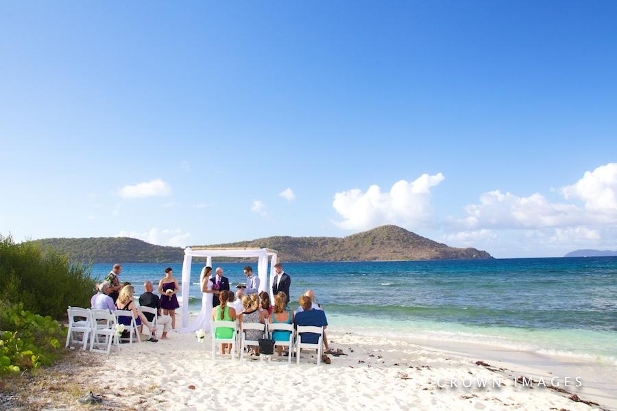 wedding on lindquist bay beach st thomas