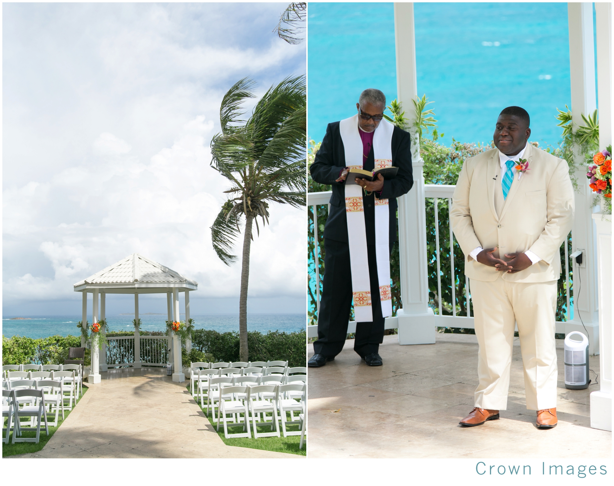 gazebo wedding on st thomas in the us virgin islands