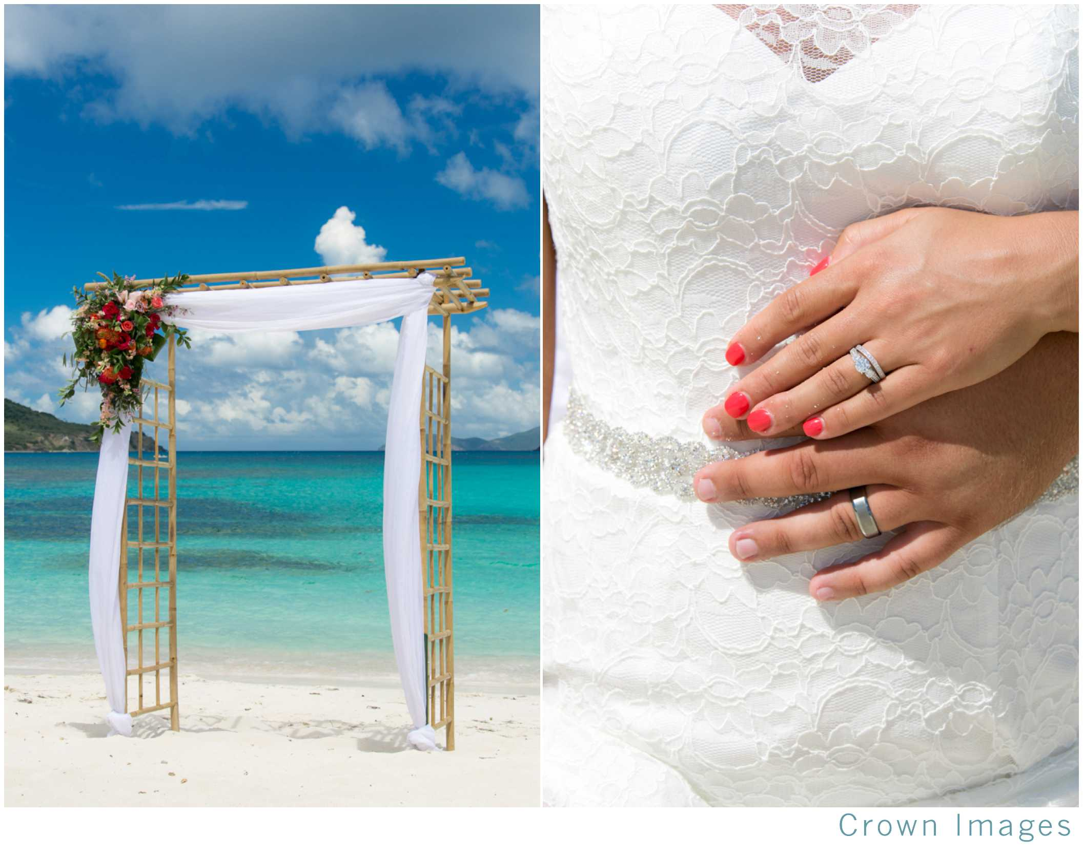 beach wedding on st thomas usvi