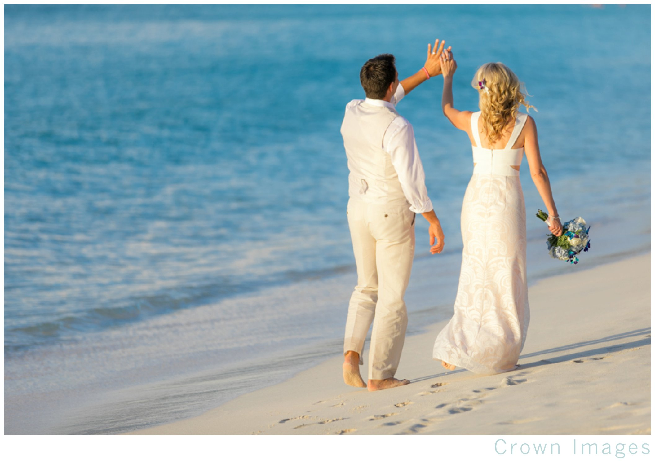 st john wedding photos on trunk bay beach