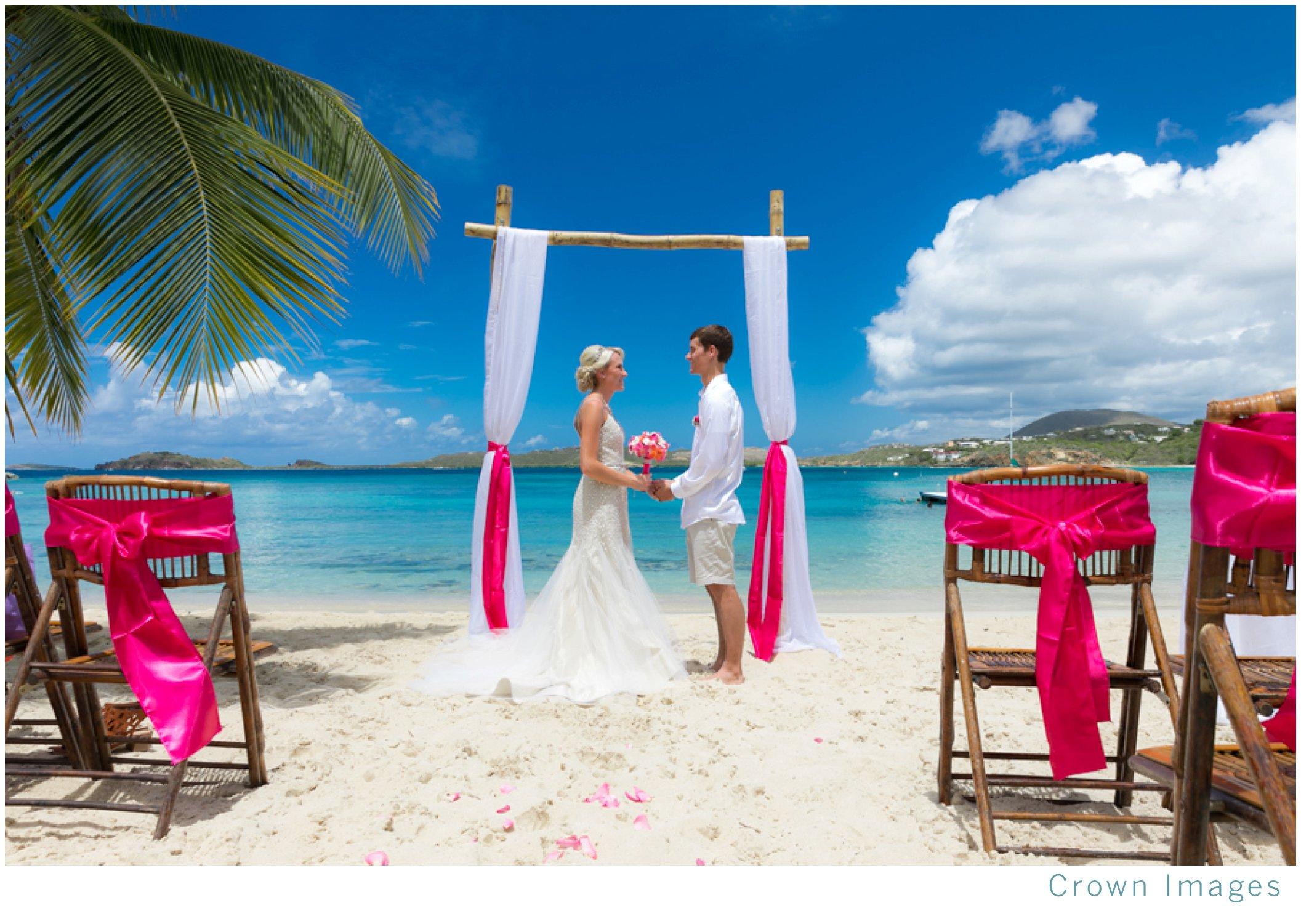 virgin islands beach wedding ceremony
