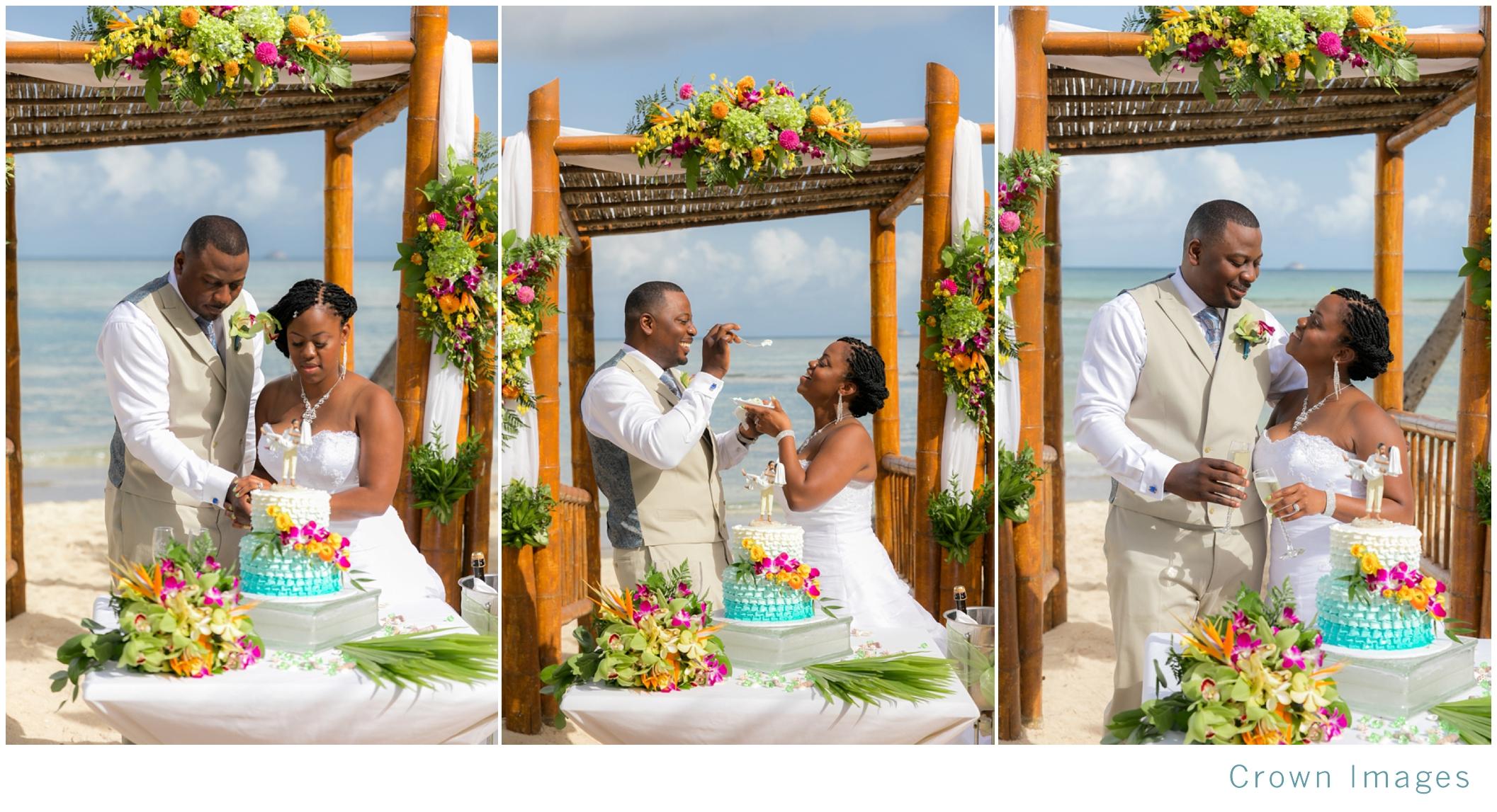 cake cutting on the beach st thomas