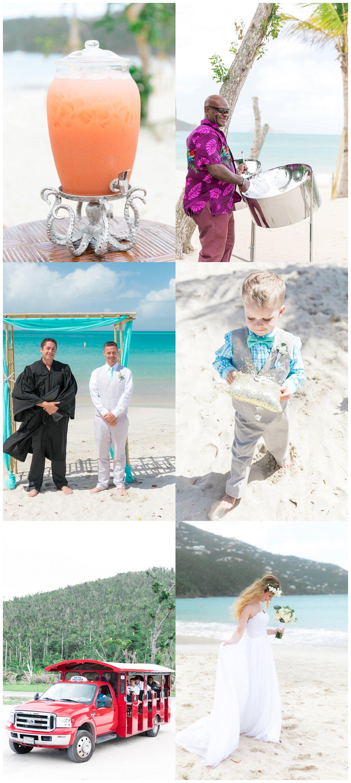 magens bay beach wedding photos