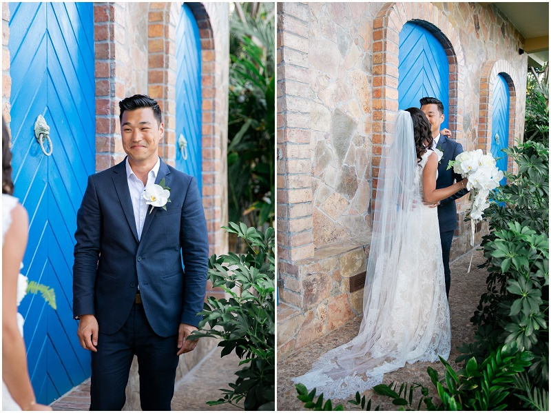 first look at a virgin islands wedding