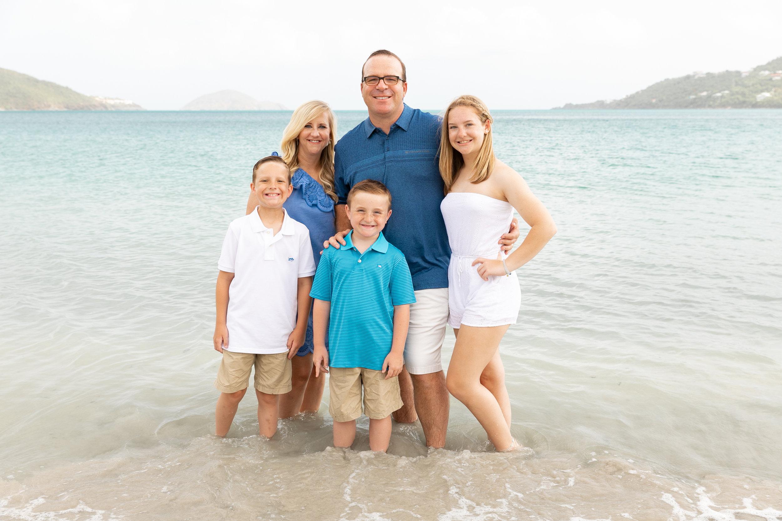 family photo session st thomas