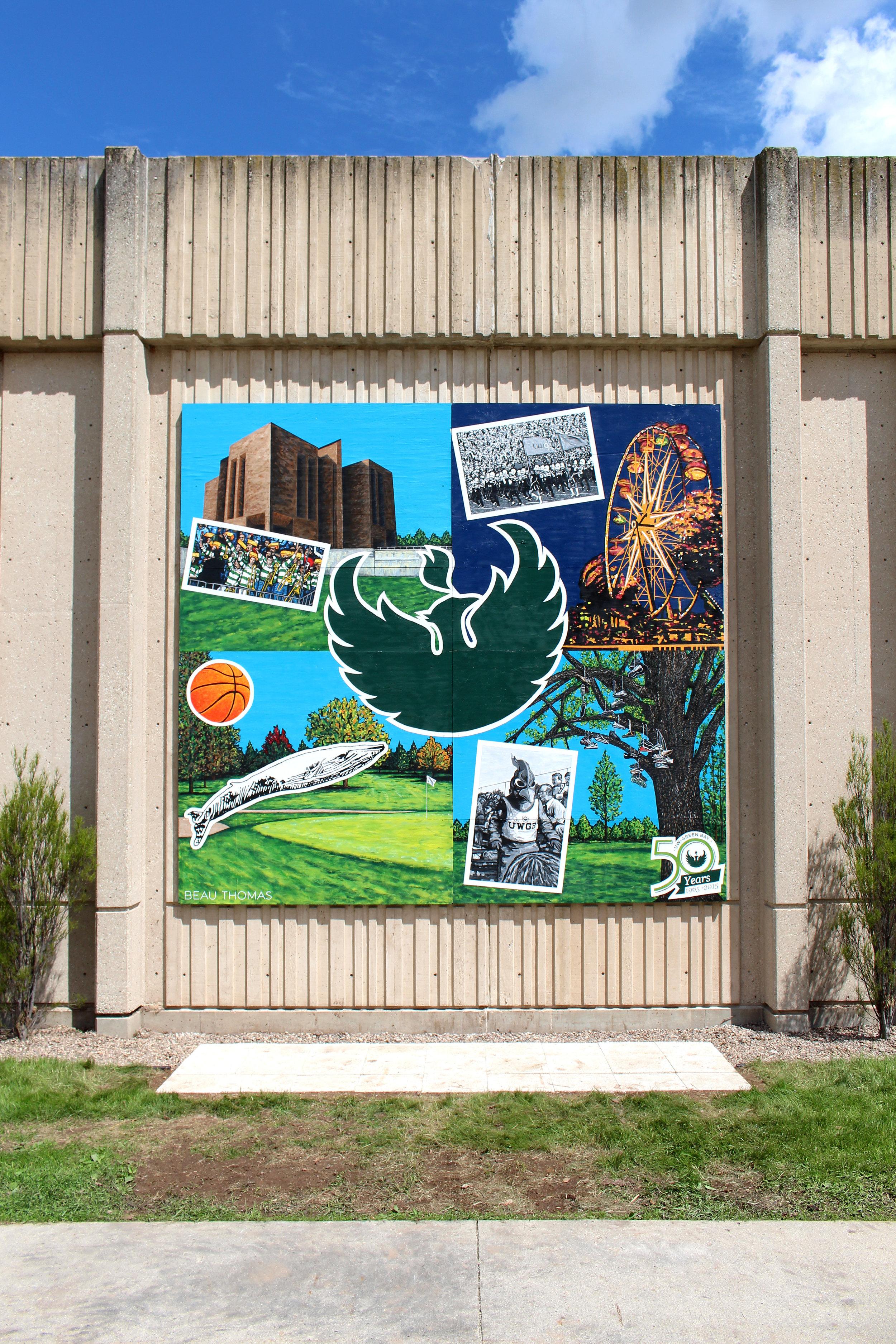 UWGB 50th Anniversary Mural