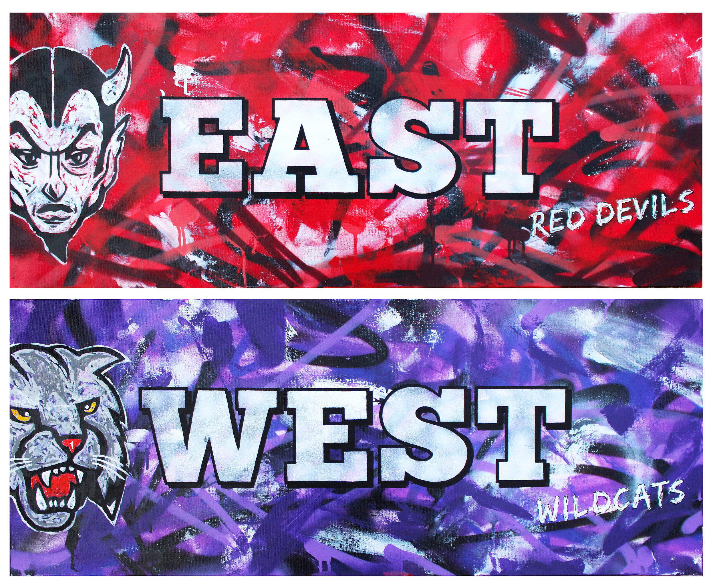East Red Devils & West Wildcats